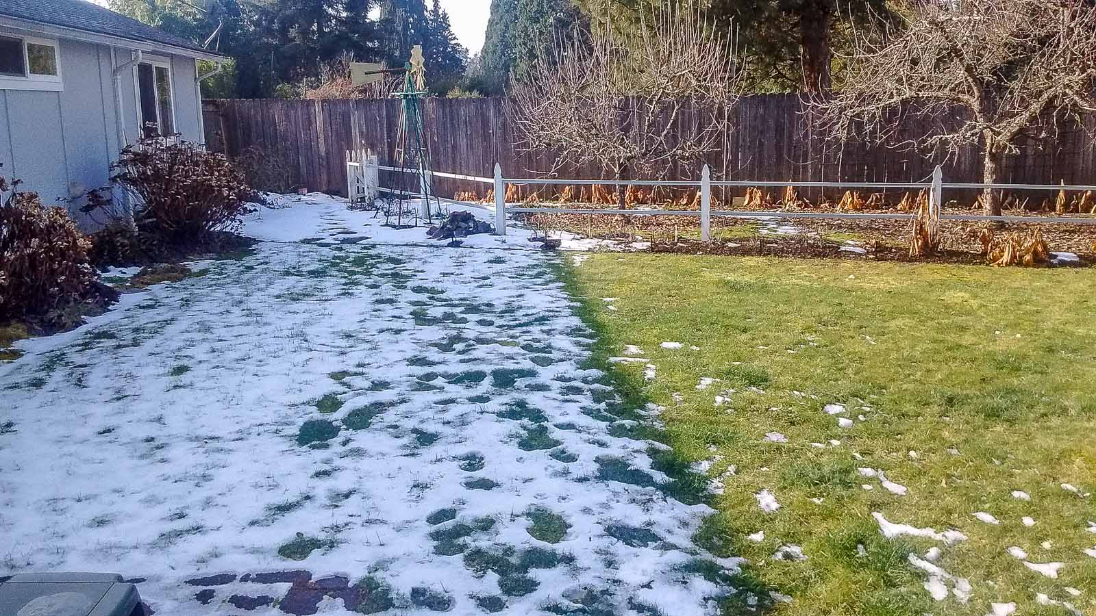 snow is thawing - prepare for early spring